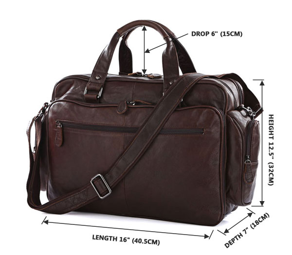 Chocolate Brown Portfolio Leather Briefcase