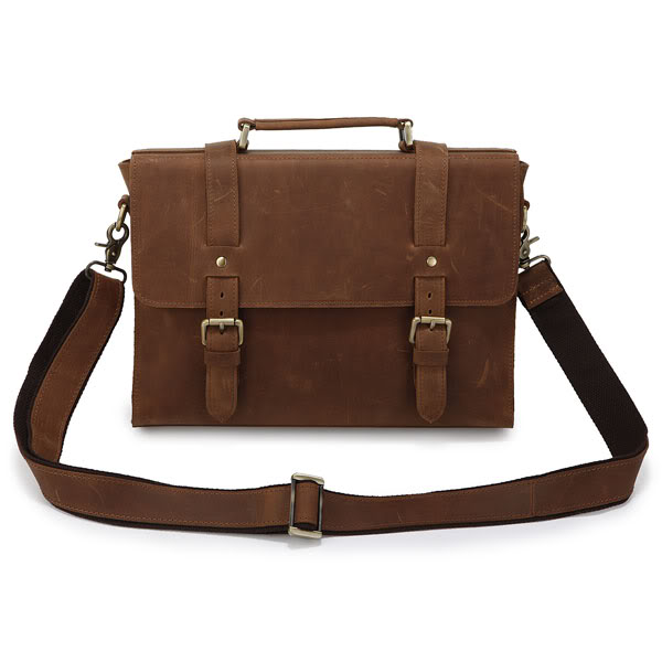 Brown Portfolio Leather Briefcase